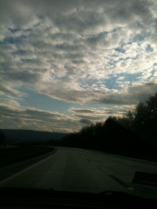 Nothing like the open road to wake you up to what you are leaving behind.